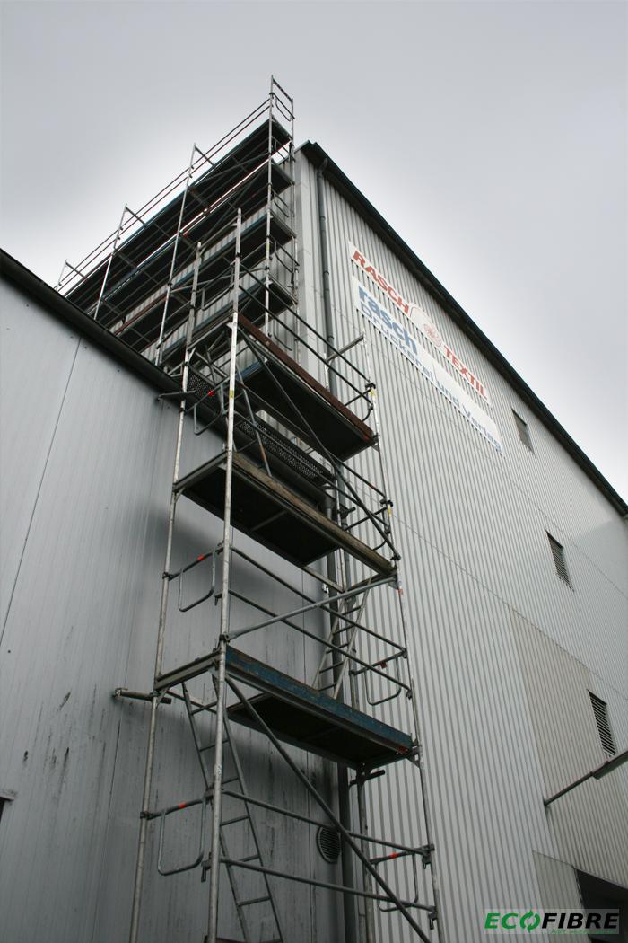 Einblasdämmung: Vorhangfassade Industriegebäude in Bramsche