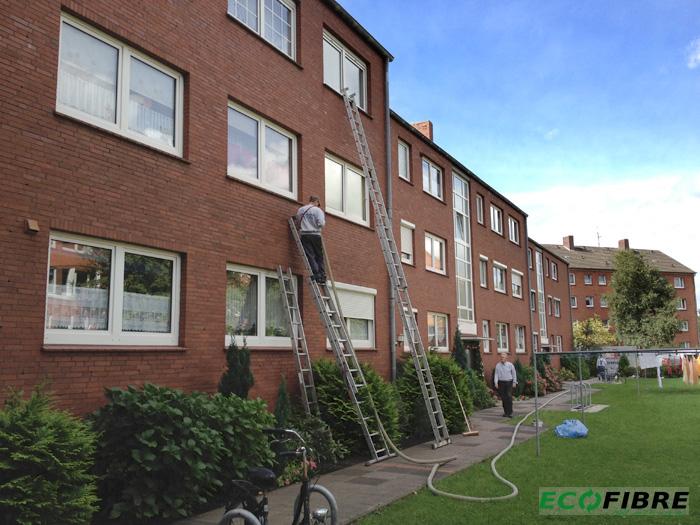 Steinwolle Kerndaemmung zweischaliges Mauerwerk in Emden