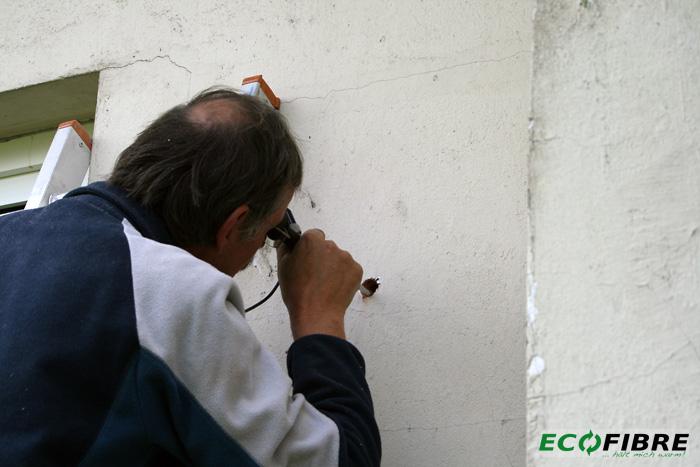 Endoskopie Kerndaemmung zweischaliges Mauerwerk