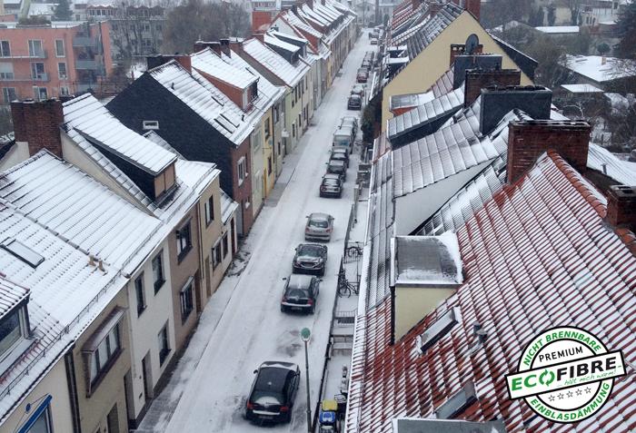 pneumatische Dämmung für Dachböden